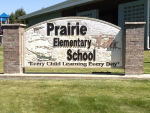Picture of Prairie Elementary School sign