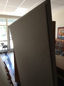 Picture of moveable divider wall