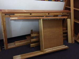 Picture of disassembled furniture