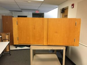 Picture of cabinet on rolling stand
